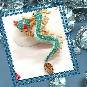 Betsey Johnson Dragon  Necklace